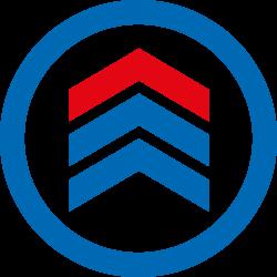 Alu / PU Lenkrad rot 180x50 mm für Hanselifter Hubwagen und Scherenhubwagen
